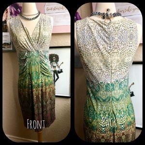 Calvin Klein Knit Reptile 🦎 Print Dress